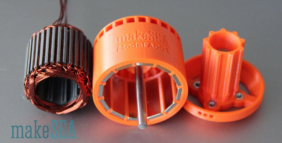 makeSEA 3D printable burshless motor